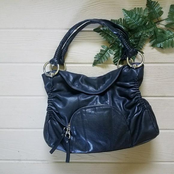 b. makowsky Bags   B Makowsky Black Leather Handbag Purse   Poshmark 477afe50fc